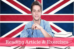 Reading Article in English with exercises image