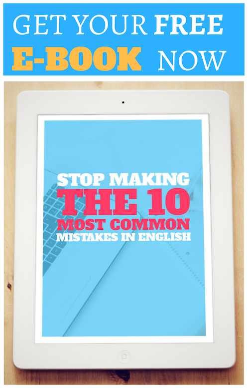 Common mistakes in English e-book